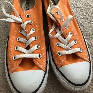 Excellent condition orange/peach converse